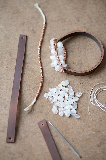 Facile grosso Tutorial braccialetto di cuoio da lebenslustiger.com, istruzioni per una cinghia di cuoio a fare il proprio