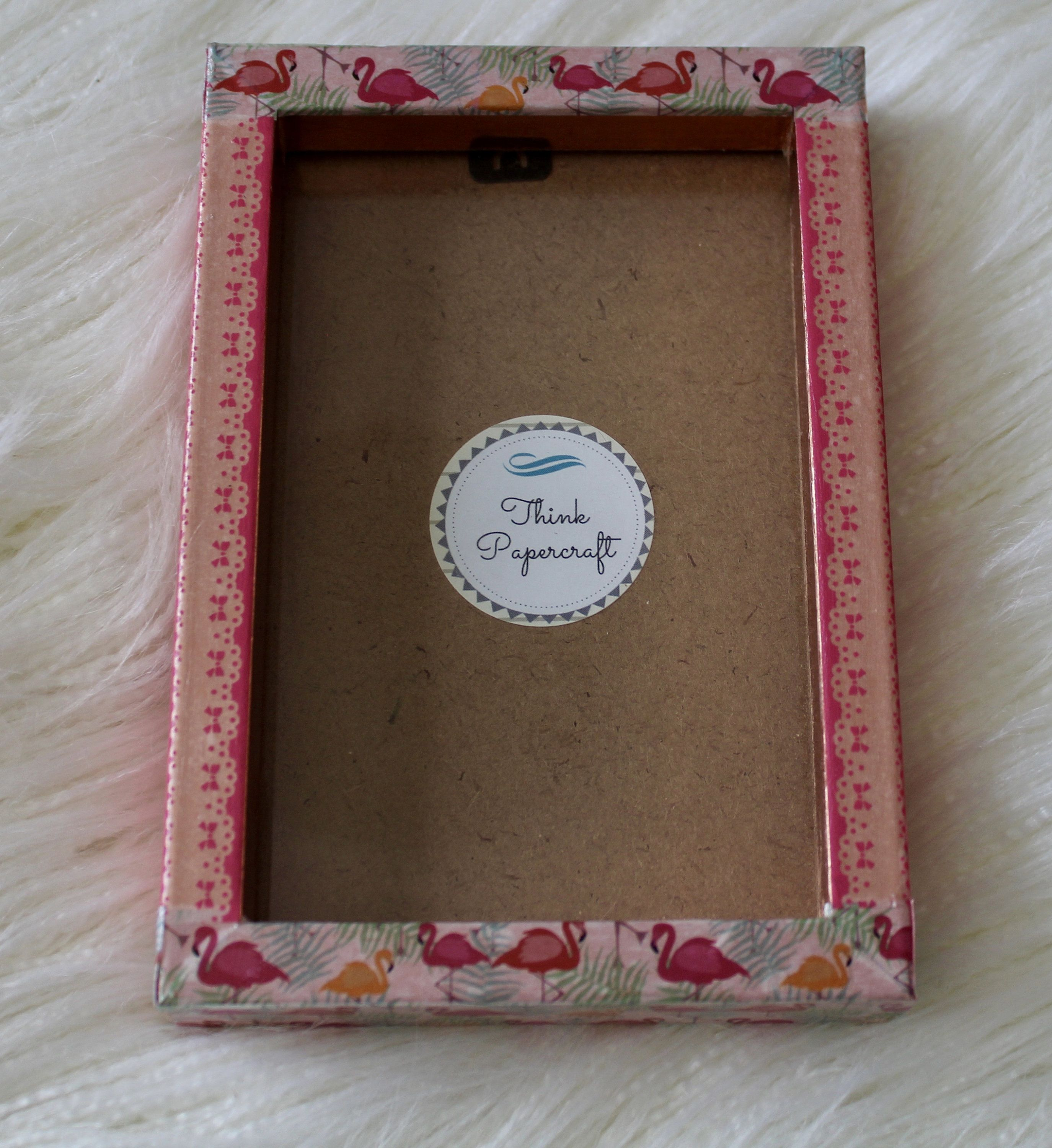 Pink Flamingo Decorated Photo Picture Frame 4x6 Inches 10x15 Cms Mount Or Frame 6x8 Inches 15x20 Cms With A Lace Pattern Unique Gift Photo Decor Pink Flamingos Frame