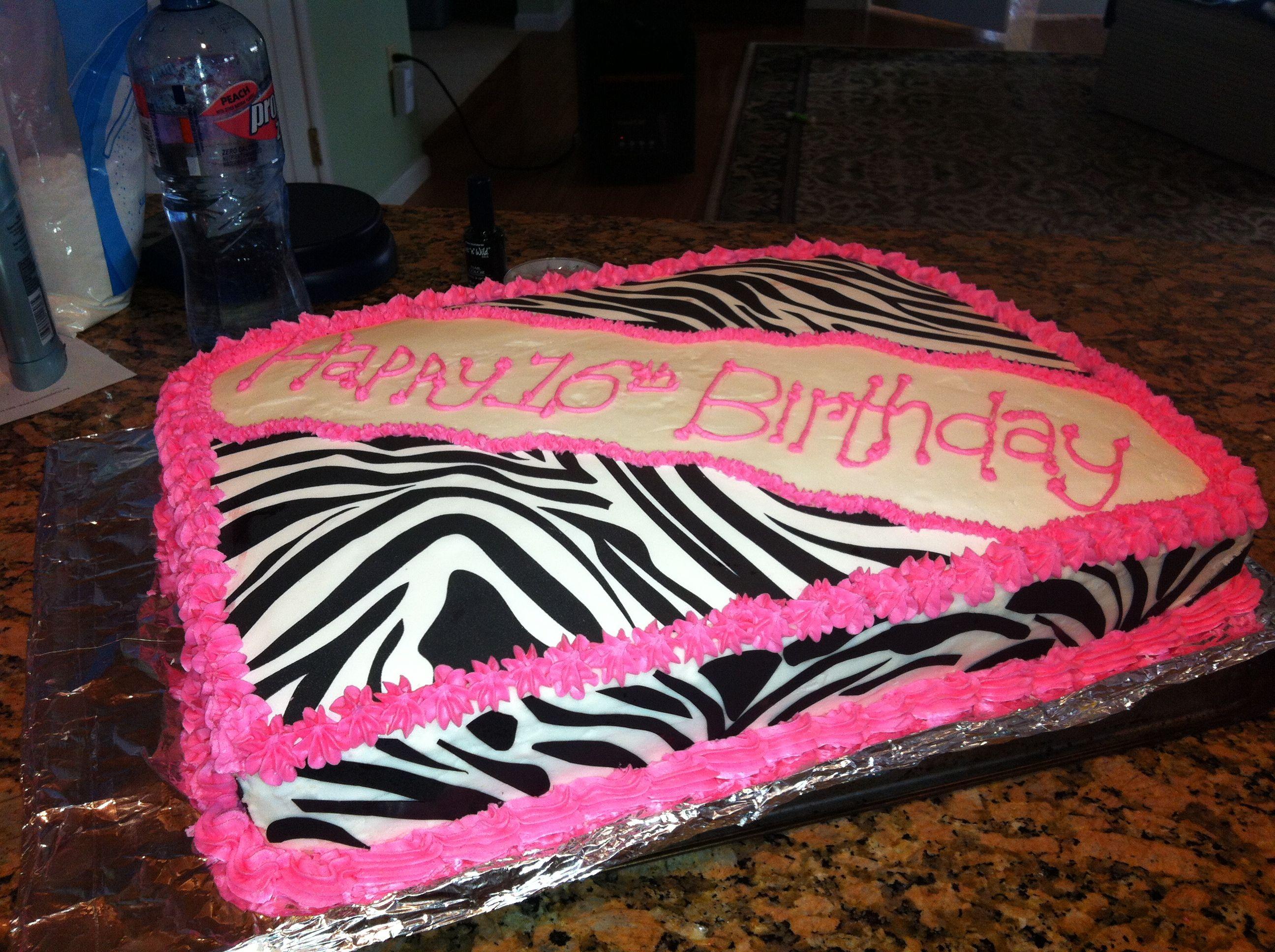zebra cake! Zebra cake, Girl cake, Cake
