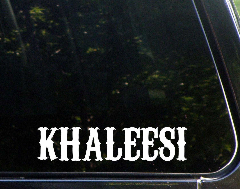 Khaleesi #Custom #Vinyl  Decal/ Bumper Sticker for Windows, Cars, #Trucks, Macboo,  View more on the LINK: http://www.zeppy.io/product/gb/3/220537826/