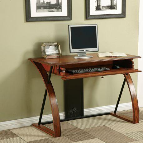 Office Star Aurora Computer Desk Walmart Ca Oak Veneer Desk Oak Wood Desk Home Office Furniture