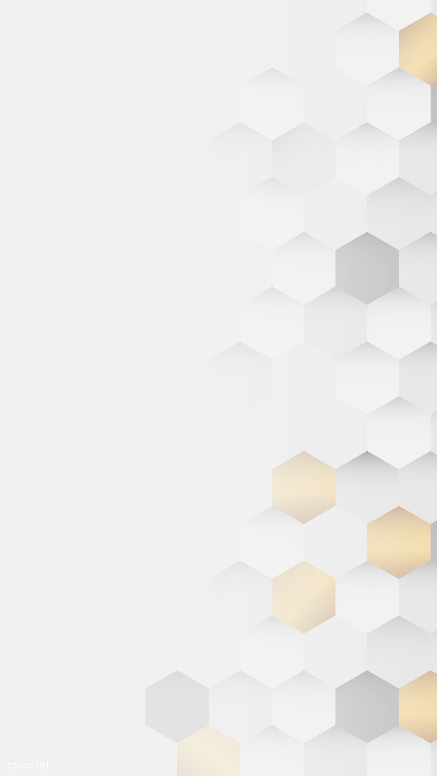 Download Premium Image Of White And Gold Hexagon Pattern Background Mobile Background Downlo Background Patterns Hexagon Pattern Geometric Pattern Background