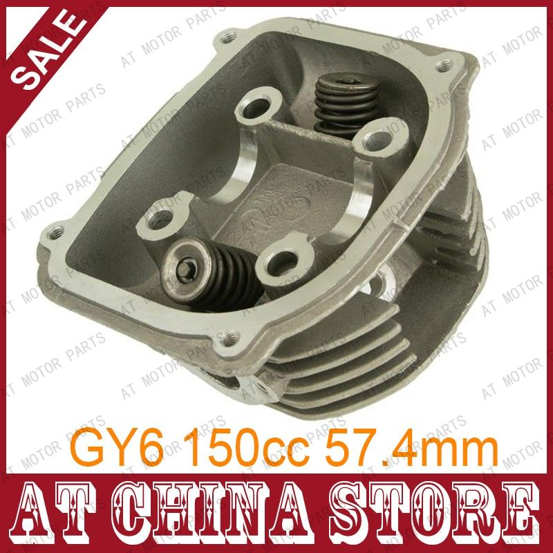 GY6 150cc Chinese Scooter Engine 57 4mm Cylinder Head Assy