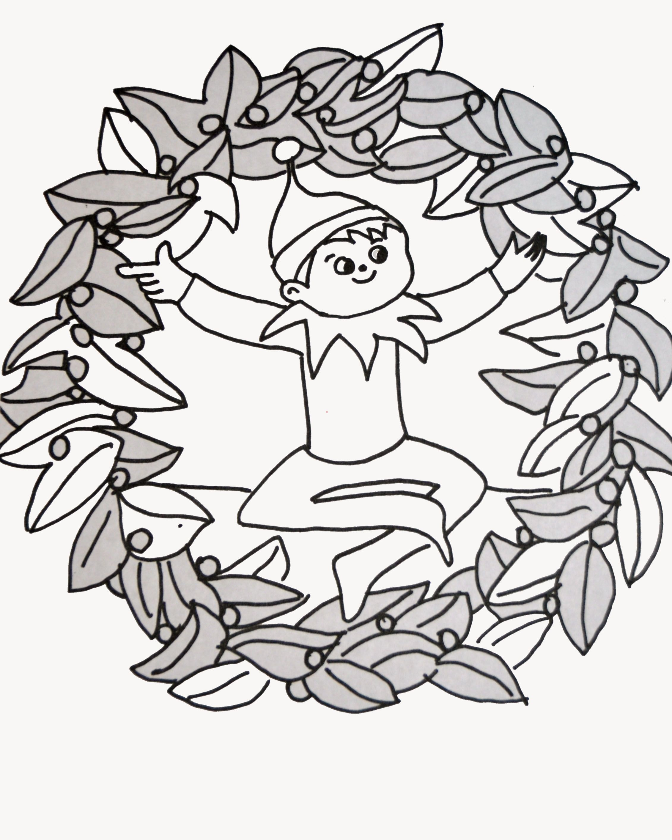 Elf on the shelf coloring page. | elf on the shelf | Pinterest