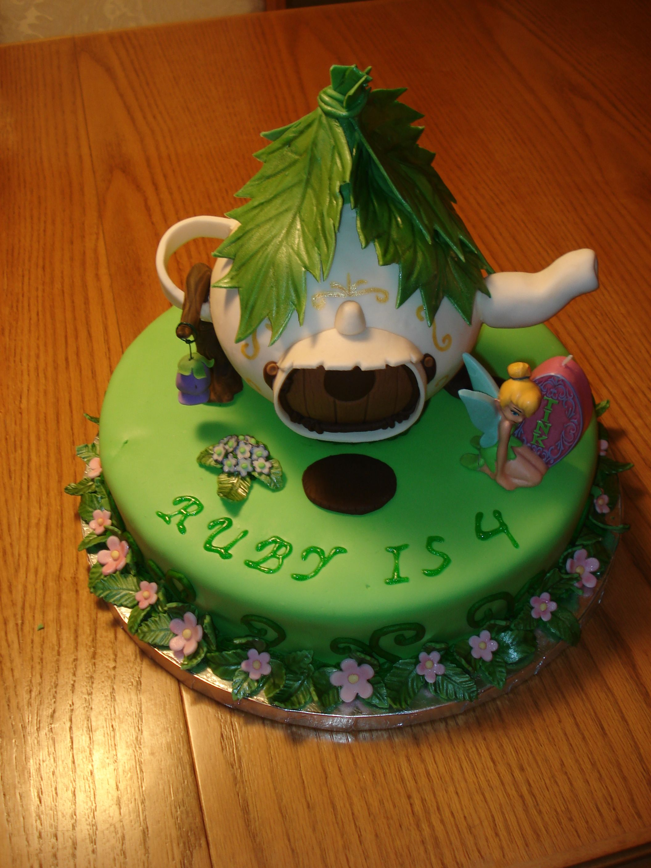 edible tea pot and hand painted details