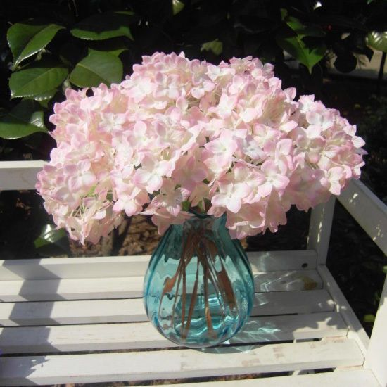 Hot Light Pink Hydrangea Artificial Fake Flower Arrangement Wedding