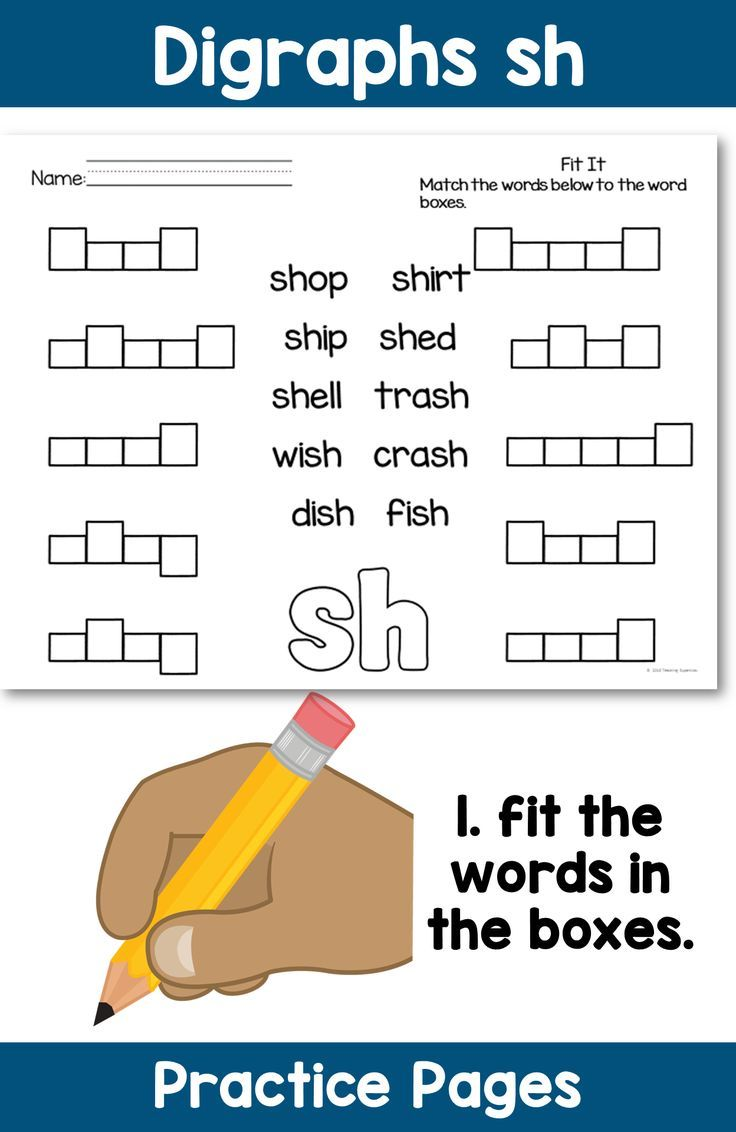 Worksheets Digraphs Worksheets sh digraphs pinterest worksheets activities and homework ideas digraph practice fit the words into boxes