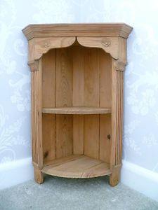Rustic Antique Victorian Carved Pine Corner Unit Shelves Cupboard C1890 Shelves Corner Wall Shelves Victorian