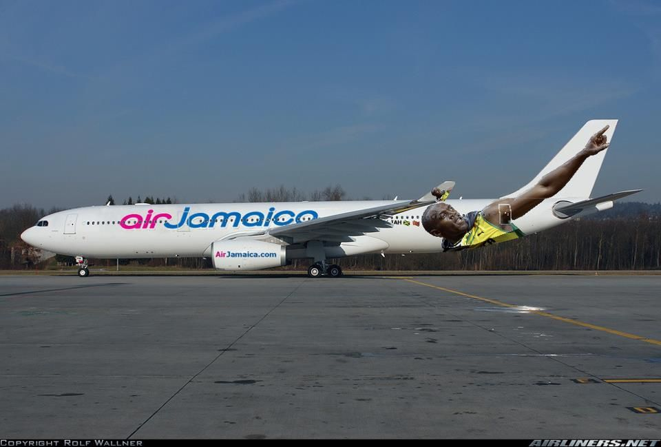 Update PHOTO Air Jamaica Has Place Usain Bolt On One Of Their