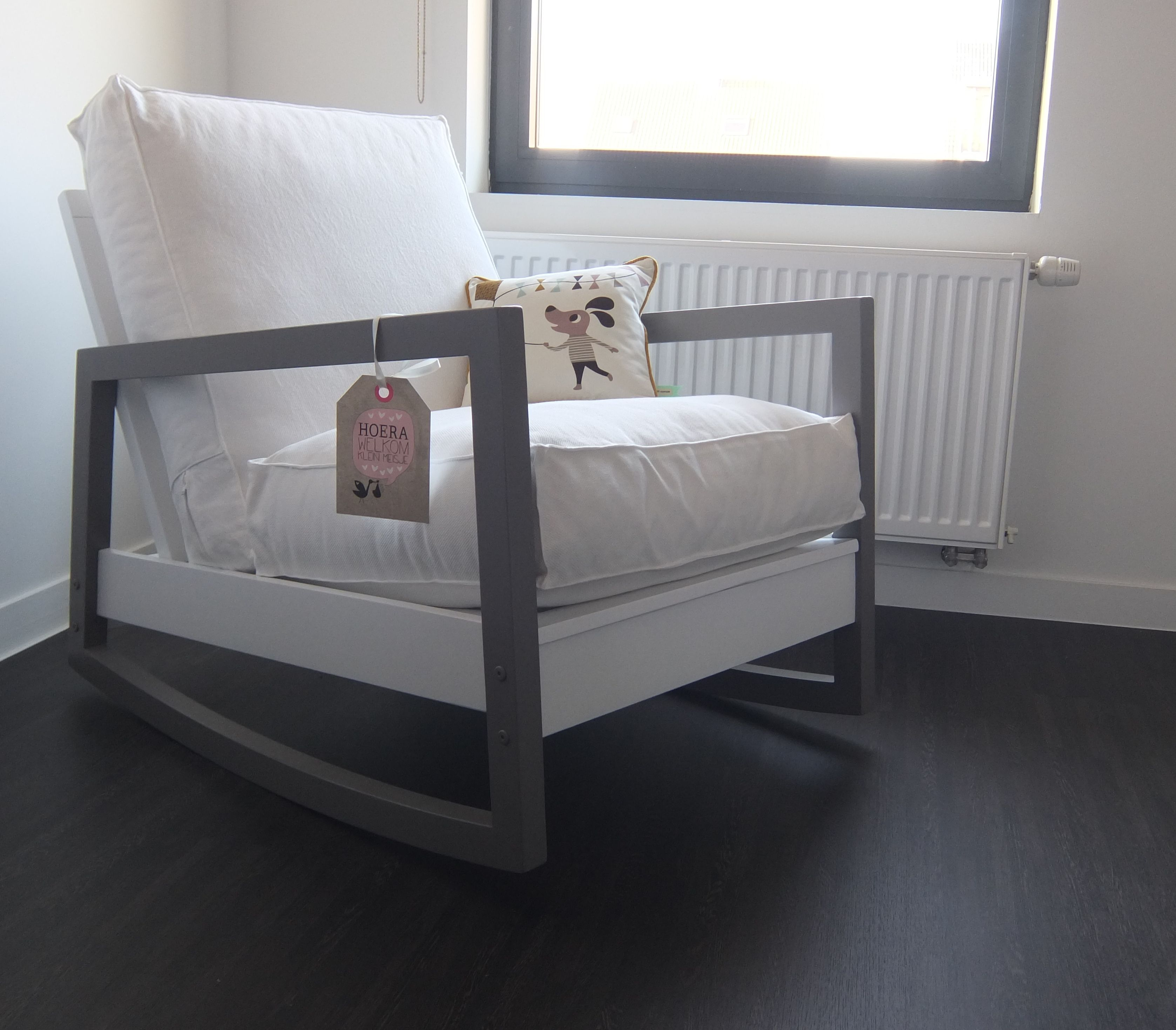 Personalised rocking chair for baby room Ikea