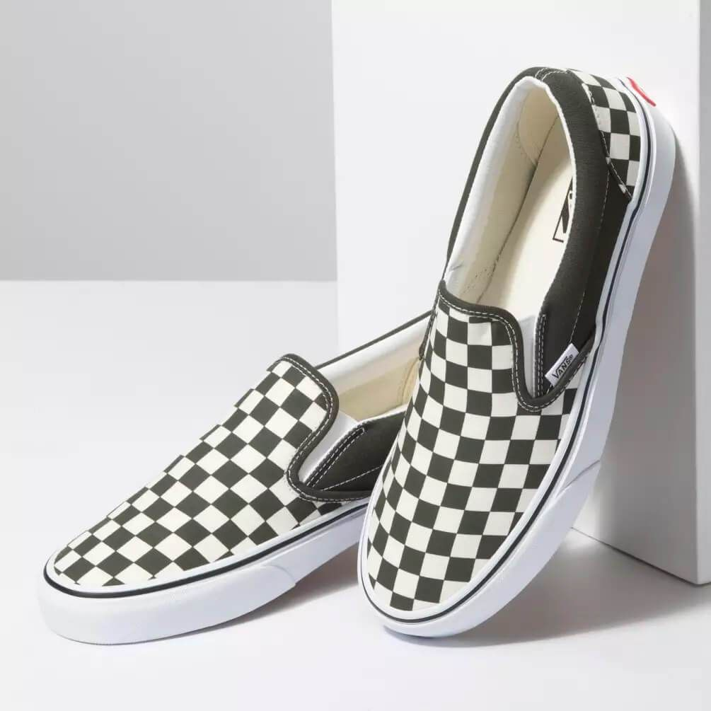 Vans Shoes Checkerboard Slip On Sneakers in Forest Night and ...