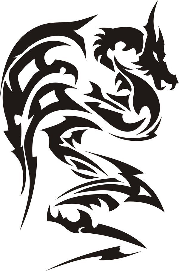 Tribal Dragon By Jhin22000 On Deviantart Tattoos
