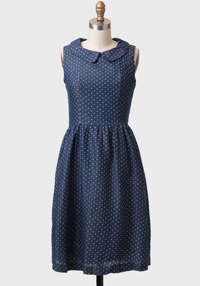 A Promise Kept Polka Dot Chambray Dress at #Ruche @mimi ヾ(^∇^)