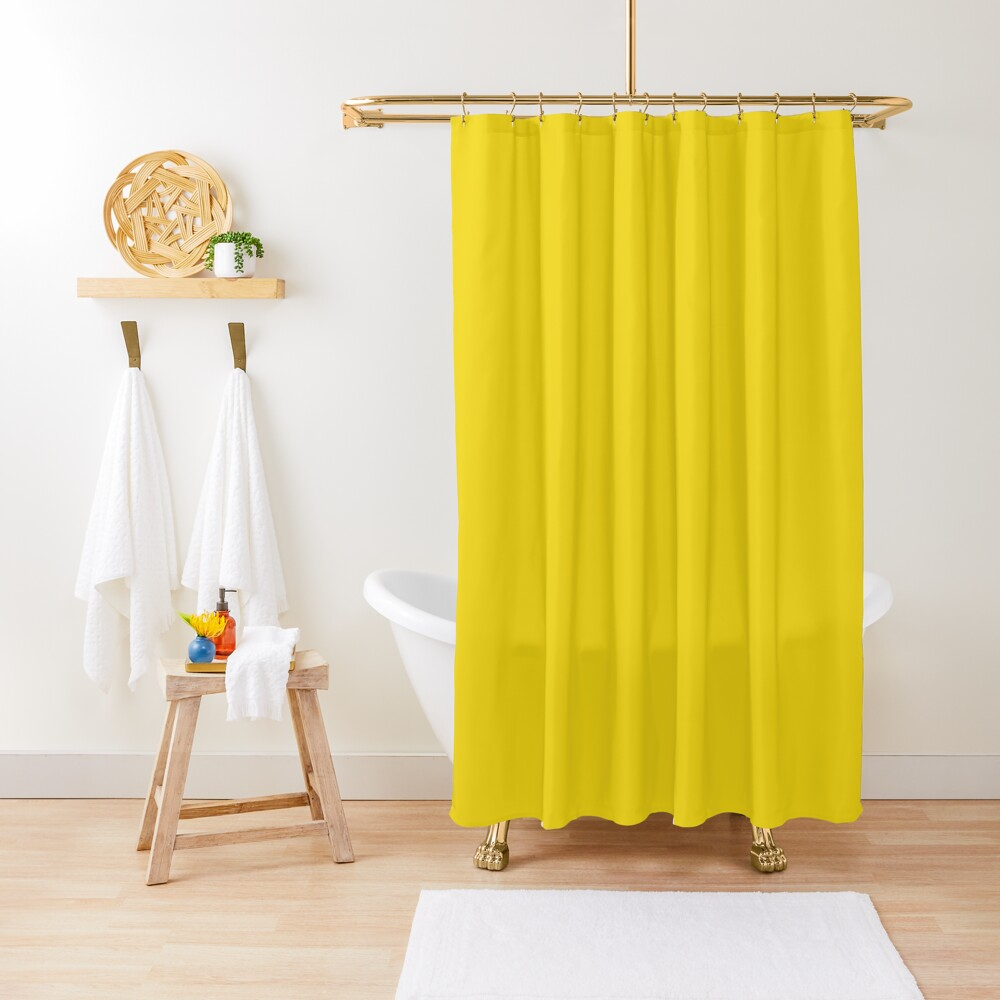 Promote Redbubble In 2020 With Images Yellow Shower Curtains