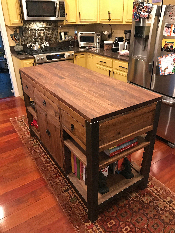 Walnut Butcher Block Desk Tops 25 Wide X 6 Ft Etsy Butcher