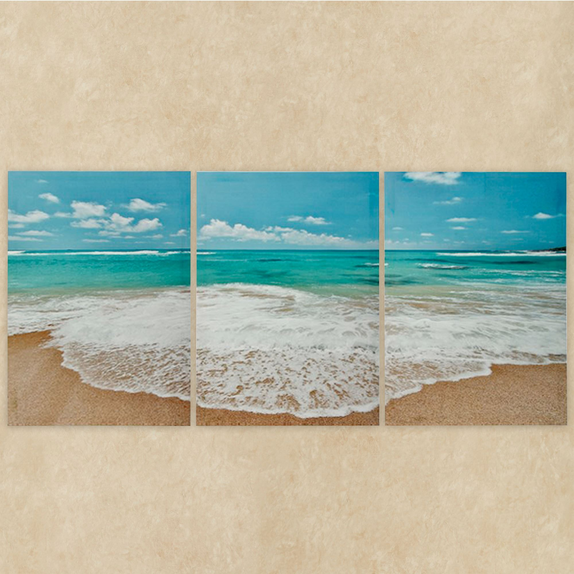 Ocean Triptych Canvas Wall Art Multi Cool Set Of Three Wall Art
