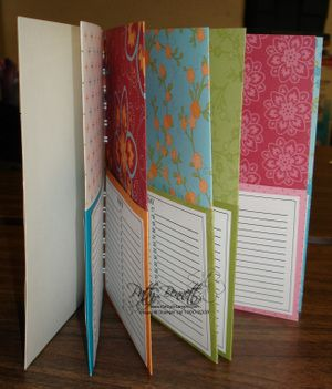 Class Project 12 Pocket Card Organizer Stamping Pinterest
