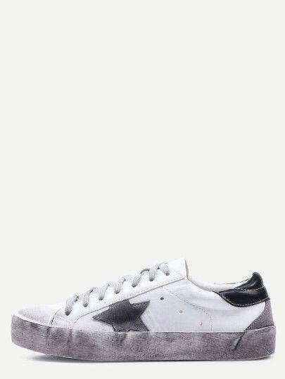 Zapatillas de deporte con estrella cordón   MODA y SHOES