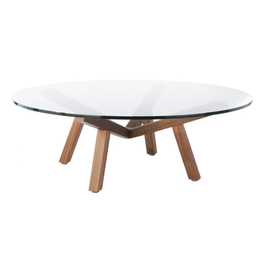 Round Gl Coffee Table Wood Base Contemporary Living Room Sets Check More At Http
