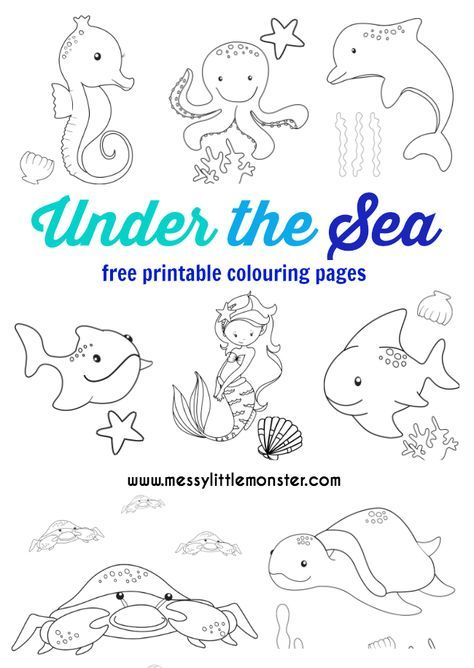 Under The Sea Colouring Pages Free Summer Coloring Pages