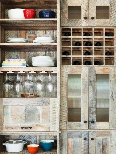 Cabinetry Made From Rough Sawn Reclaimed Lumber Gorgeous