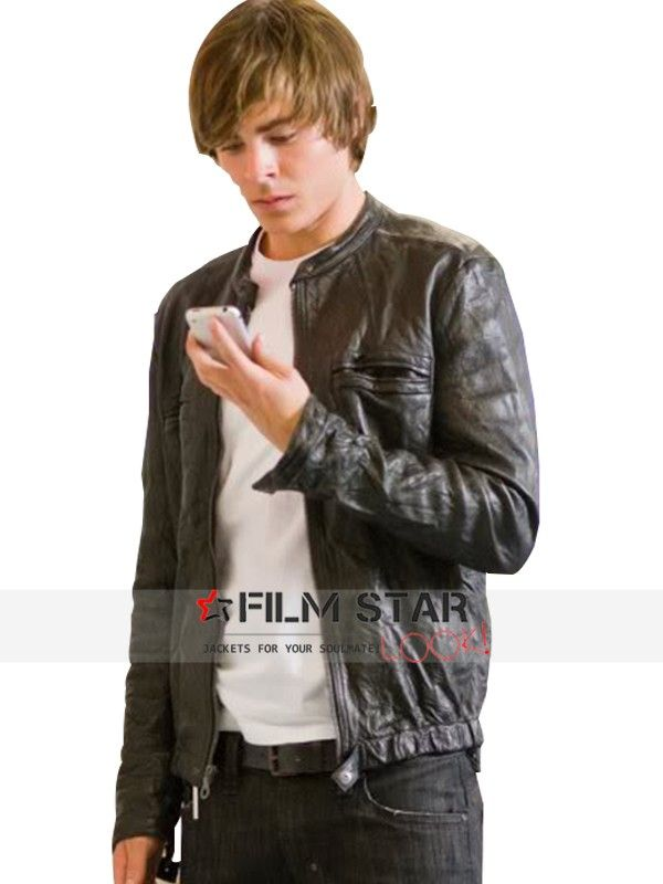 Here comes Zac Efron jacket from the Hollywood movie, 17 Again. This Oblow  wrinkled leather outfit is now available at Film Star Look store at a great  price