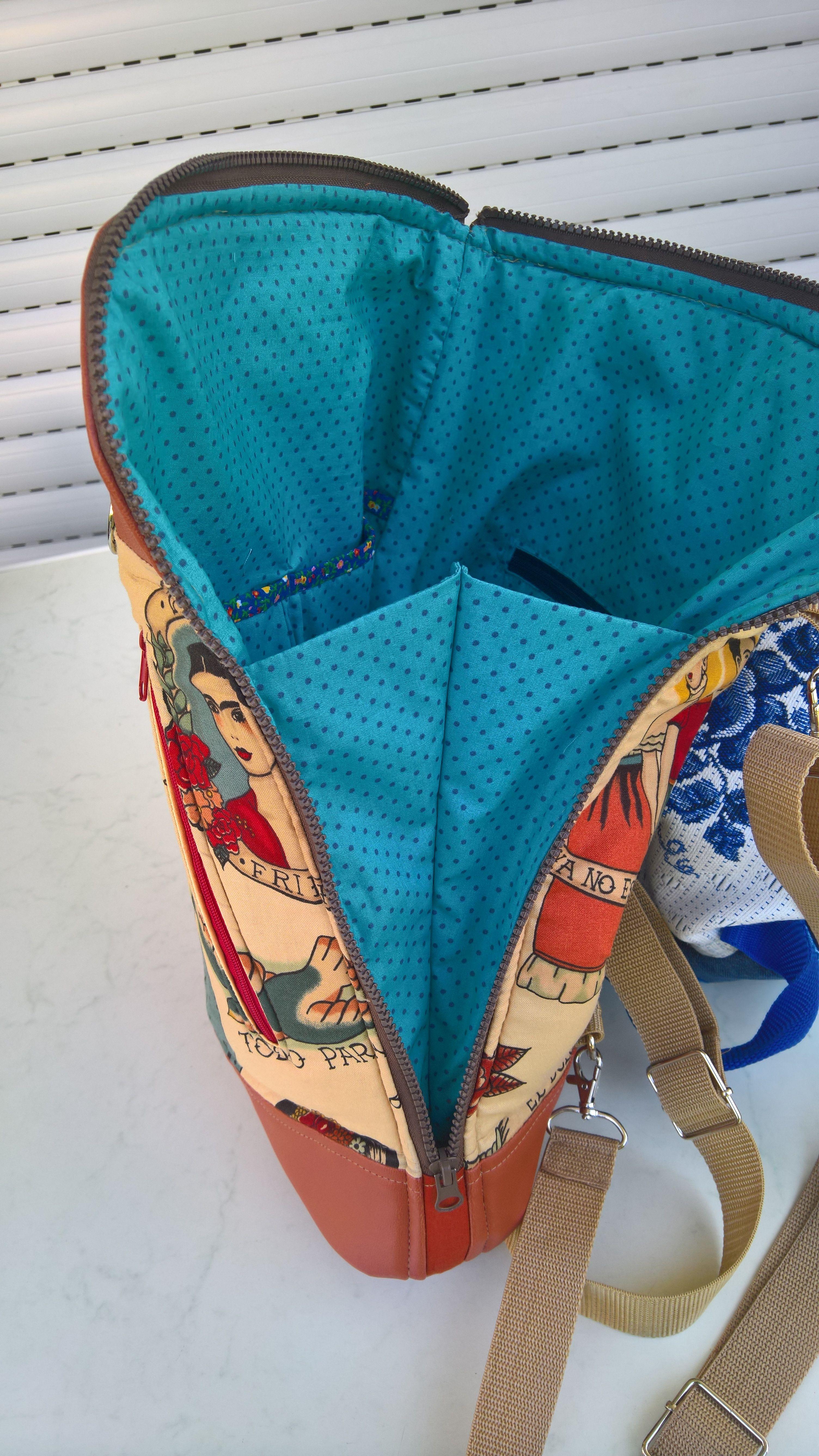 Henry Stoff blue calla convertible backpack calla cabrio rucksack