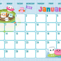 Hello Cuteness Used To Be Anything But Perfect Free Version January 2013 Calend Calendar Printables Free Printable Calendar Free Printable Calendar Monthly
