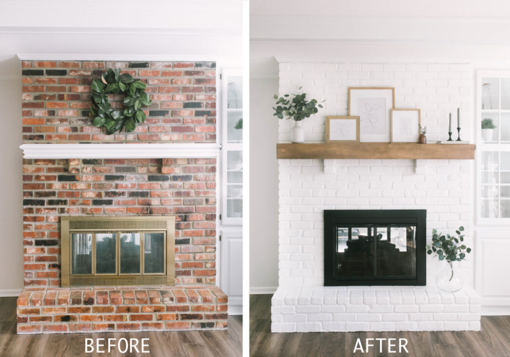 Photo of How To Paint Your Brick Fireplace – Katie Lamb