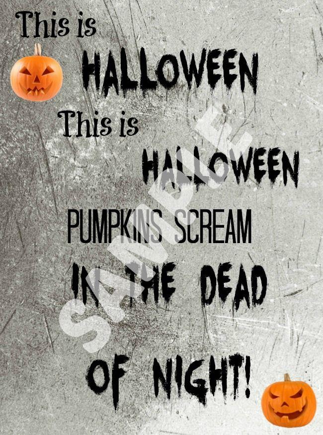 This Is Halloween (Nightmare Before Christmas) Printable - halloween decoration printables