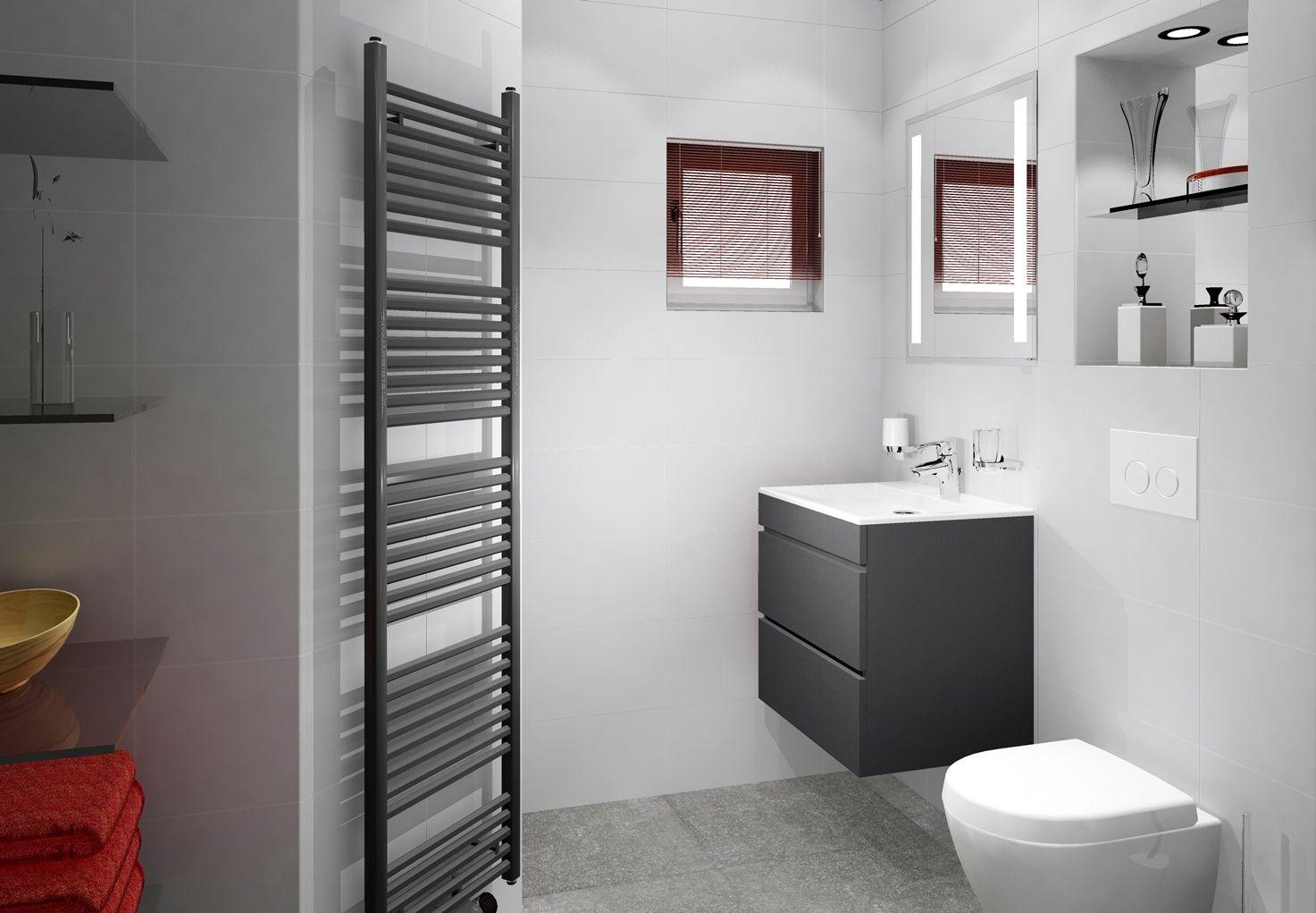 kleine badkamer van 153x238cm met ingebouwde spiegelkast en