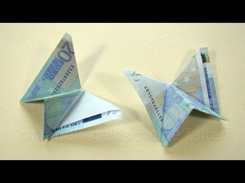 Schmetterling Origami Geld