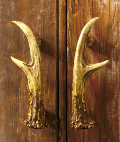 Rustic Lodge Antler Decorative Hardware Cabinet Kitchen