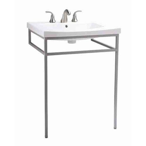 """Found it at Wayfair - Persuade Vanity-Top Bathroom Sink with 8"""" Widespread Faucet Holes / Persuade Console Table"""