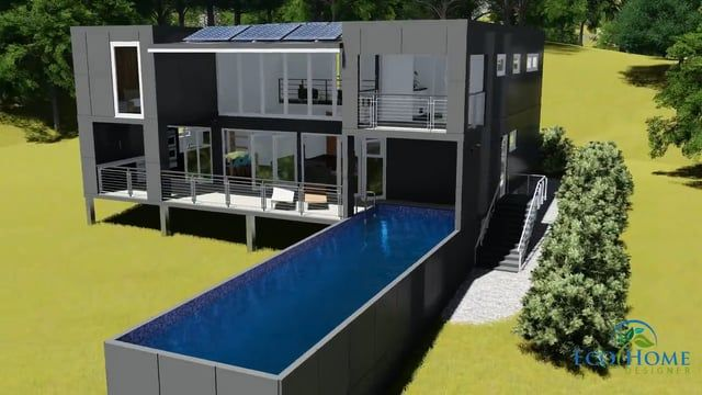 Custom Shipping Container Home Designed By Eco Home Designer Pty Ltd This Container Home Uses Custom Made Container House Design Container House Pool Houses