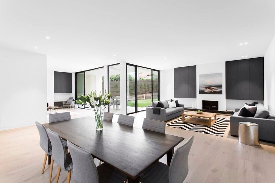 Dinning Room and Living Room 2 Black n White Source : FB House Ideas ...
