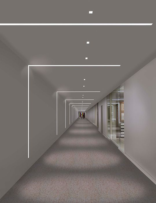 Pure lighting truline 1 6 24vdc plaster in led system