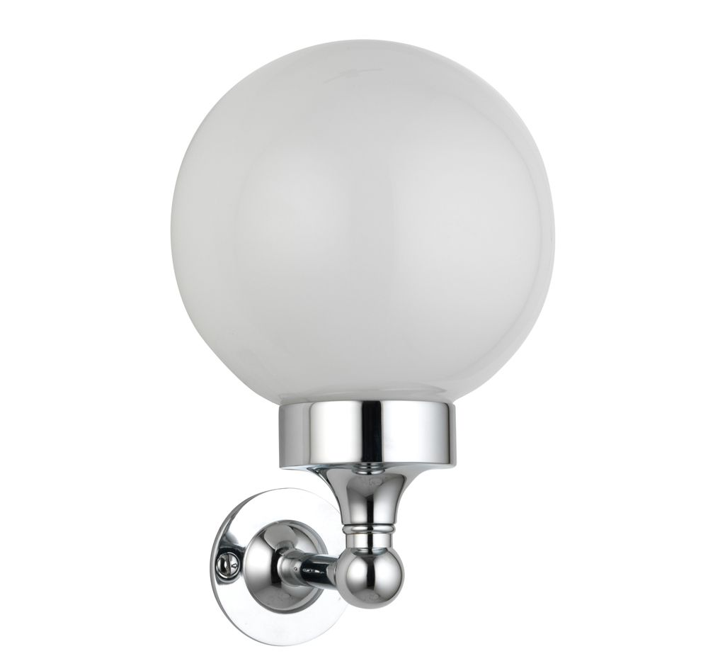 Globe Wall Light For Either Side Of Basin Unit