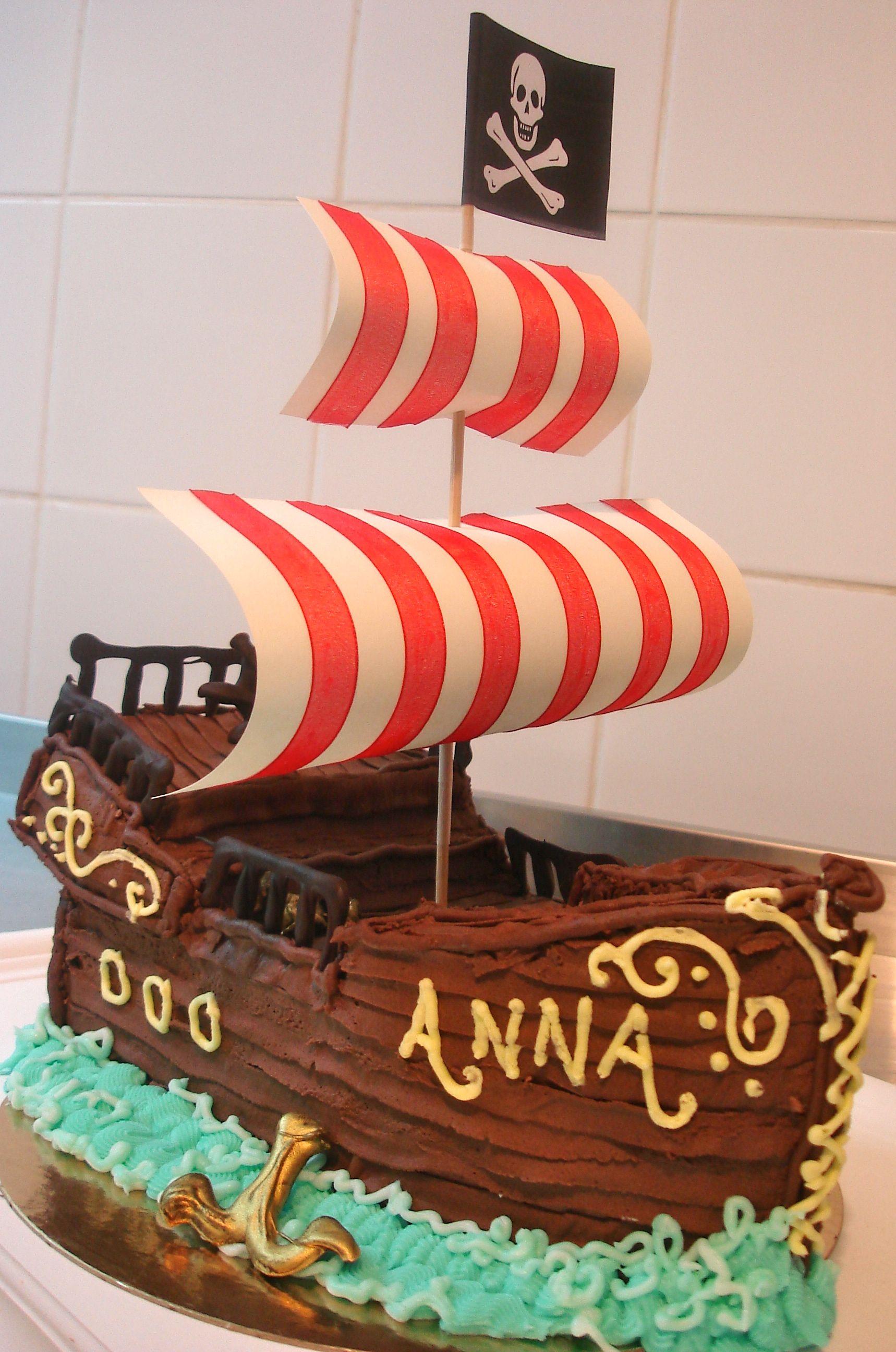 Pirate Ship Birthday Cake Chateau Gateau Pinterest Pirate