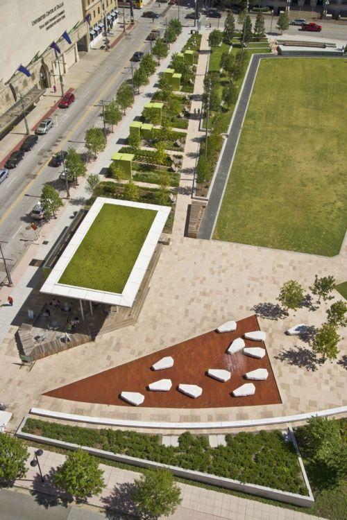 Main Street Garden Park Urban Landscape Landscape Design Landscape Architect