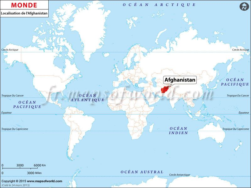 Où est l\'Afghanistan - Location of #Afghanistan on World map. | Pays ...