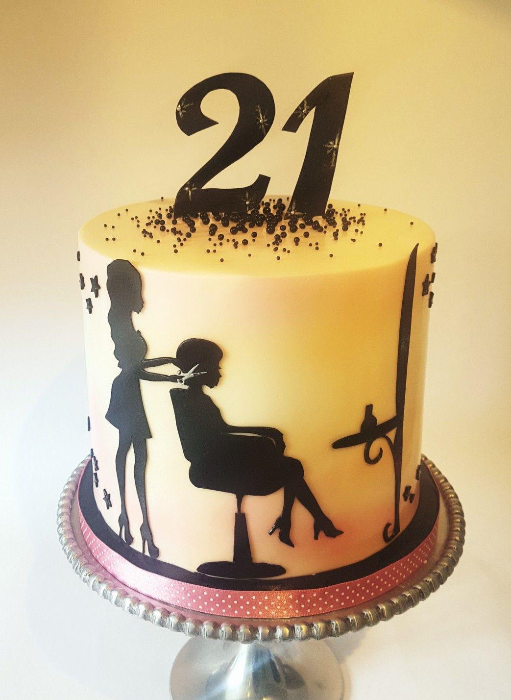 Hairdresser Cake Ideas 21st Birthday Cake Silhouette Cake Bracknell Cake Maker Sweet Mischief Cake Hairdresser Cake Beach Birthday Cake Silhouette Cake
