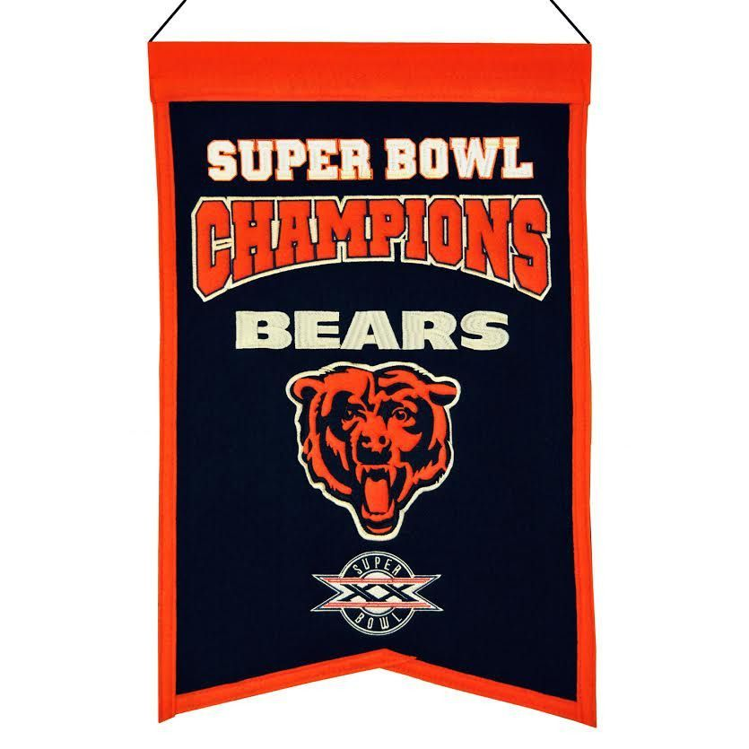 Chicago Bears Wool Champions Banner