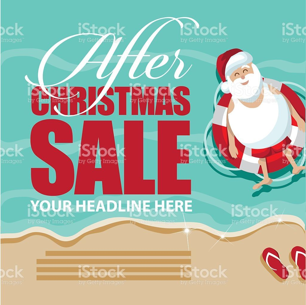 Santa floating in a lifesaver after christmas sale