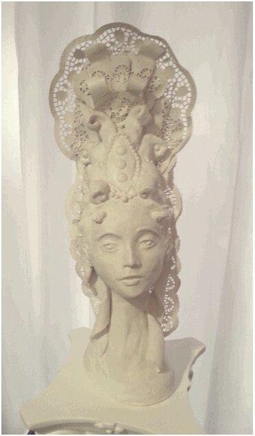Barock Rokoko Frisur Fontage Skulpture