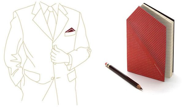 The Hankie Pocketbook by Animi Causa is designed to look like a folded pocket square when it is tucked in the front pocket of a suit jacket.