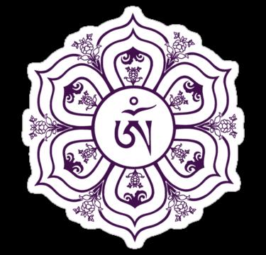 Tibetan Om Symbol In Lotus Throne Mandala Line Drawing By Bodhicittatees Buddha Buddhism