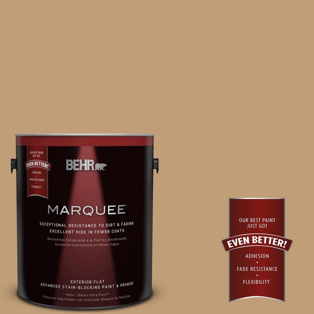 BEHR MARQUEE 1-gal. #300F-4 Almond Toast Flat Exterior Paint