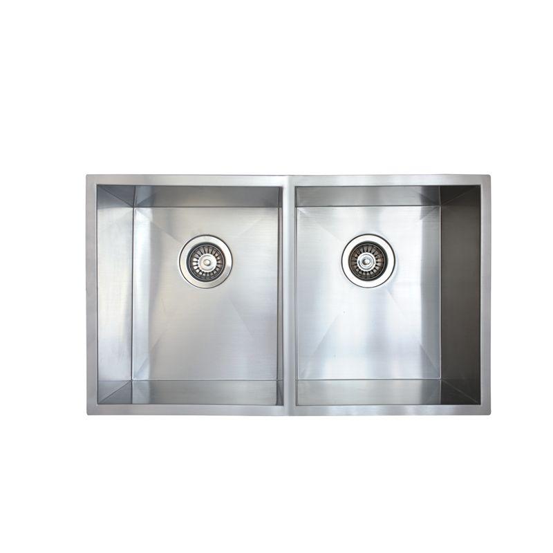 Mondella 745mm Rococo Double Bowl Square Undermount Sink
