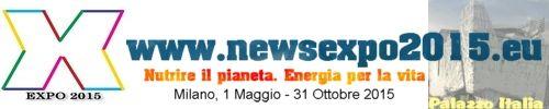 """Banner promozionale di www.newsexpo2015.eu. """"Nutrire il pianeta. Energia per la vita"""""""